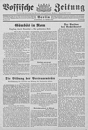Vossische Zeitung vom 13.03.1934