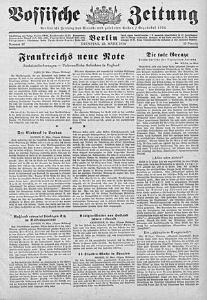 Vossische Zeitung vom 20.03.1934