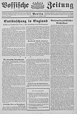 Vossische Zeitung vom 25.03.1934