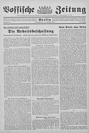Vossische Zeitung vom 28.03.1934