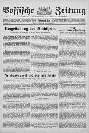 Vossische Zeitung vom 29.03.1934
