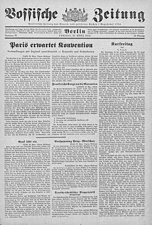 Vossische Zeitung vom 30.03.1934