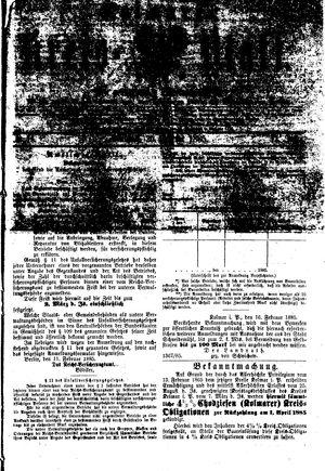 Kolmarer Kreisblatt vom 25.02.1885