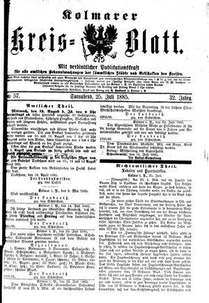 Kolmarer Kreisblatt vom 25.07.1885