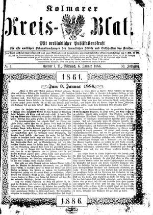 Kolmarer Kreisblatt vom 06.01.1886
