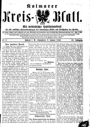 Kolmarer Kreisblatt vom 09.01.1886