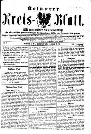Kolmarer Kreisblatt vom 20.01.1886