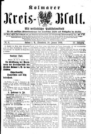 Kolmarer Kreisblatt vom 30.01.1886