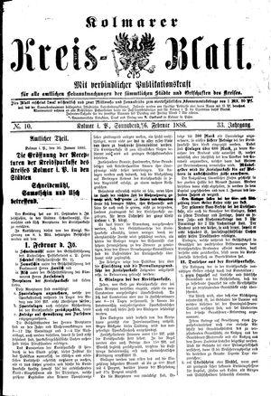Kolmarer Kreisblatt vom 06.02.1886