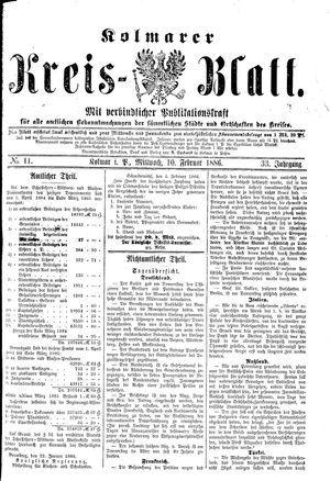 Kolmarer Kreisblatt vom 10.02.1886