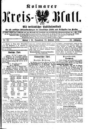 Kolmarer Kreisblatt vom 13.02.1886