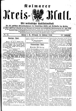 Kolmarer Kreisblatt vom 24.02.1886