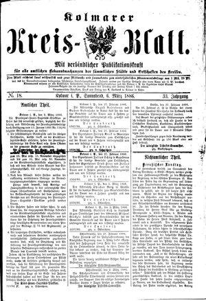 Kolmarer Kreisblatt on Mar 6, 1886
