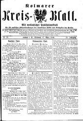 Kolmarer Kreisblatt (17.03.1886)