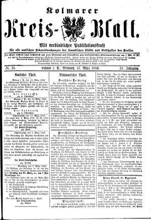 Kolmarer Kreisblatt vom 17.03.1886