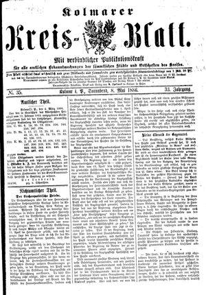 Kolmarer Kreisblatt vom 08.05.1886