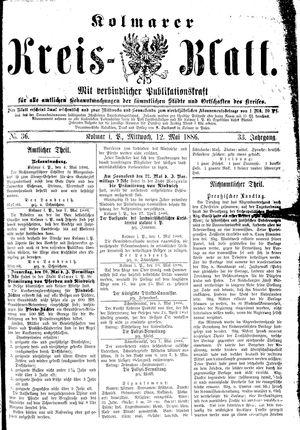 Kolmarer Kreisblatt vom 12.05.1886