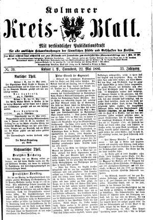 Kolmarer Kreisblatt on May 22, 1886