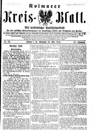 Kolmarer Kreisblatt vom 26.05.1886