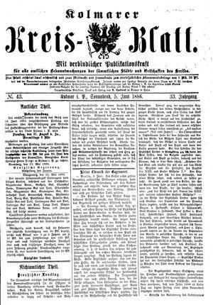 Kolmarer Kreisblatt vom 05.06.1886