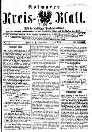 Kolmarer Kreisblatt vom 19.06.1886