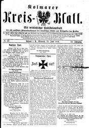 Kolmarer Kreisblatt (23.06.1886)