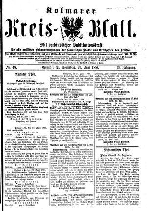 Kolmarer Kreisblatt vom 26.06.1886