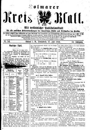 Kolmarer Kreisblatt vom 17.07.1886