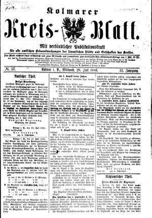 Kolmarer Kreisblatt vom 28.07.1886
