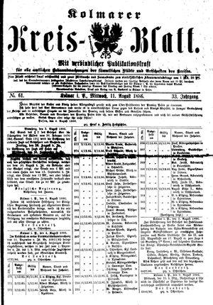 Kolmarer Kreisblatt vom 11.08.1886