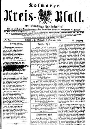 Kolmarer Kreisblatt on Sep 1, 1886