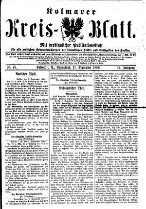 Kolmarer Kreisblatt vom 11.09.1886