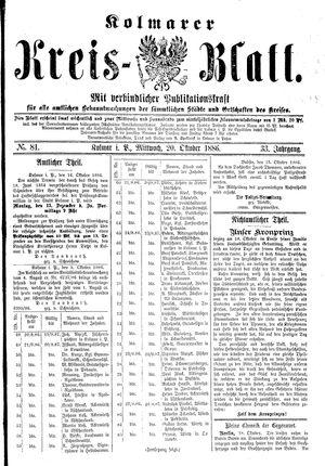 Kolmarer Kreisblatt vom 20.10.1886