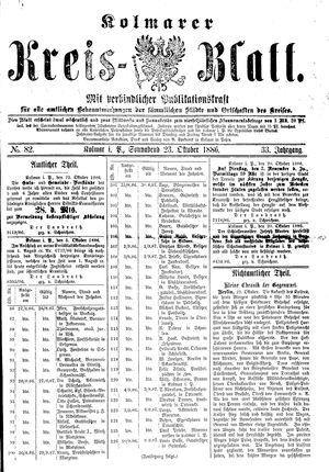 Kolmarer Kreisblatt vom 23.10.1886
