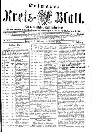 Kolmarer Kreisblatt vom 27.10.1886
