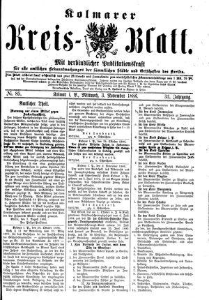Kolmarer Kreisblatt vom 03.11.1886