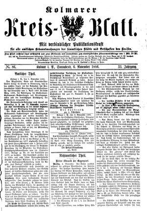 Kolmarer Kreisblatt vom 06.11.1886