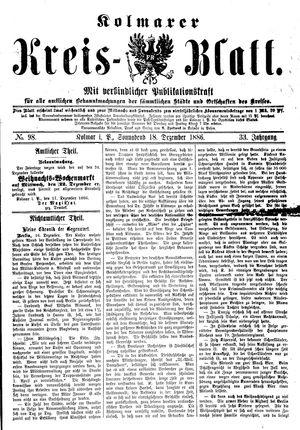Kolmarer Kreisblatt vom 18.12.1886