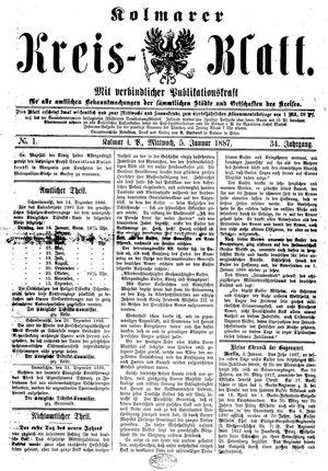 Kolmarer Kreisblatt on Jan 5, 1887