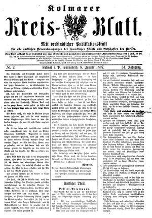 Kolmarer Kreisblatt on Jan 8, 1887