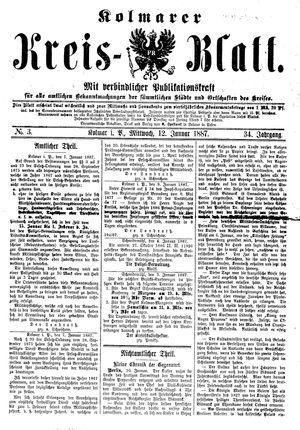 Kolmarer Kreisblatt on Jan 12, 1887