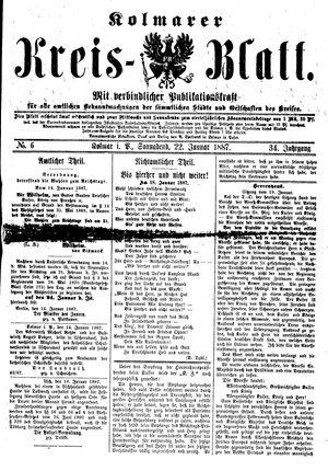 Kolmarer Kreisblatt vom 22.01.1887