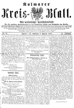 Kolmarer Kreisblatt vom 09.02.1887