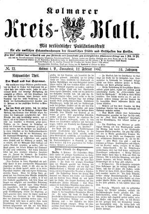Kolmarer Kreisblatt vom 12.02.1887