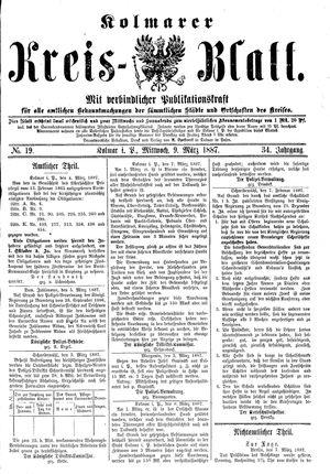 Kolmarer Kreisblatt vom 09.03.1887