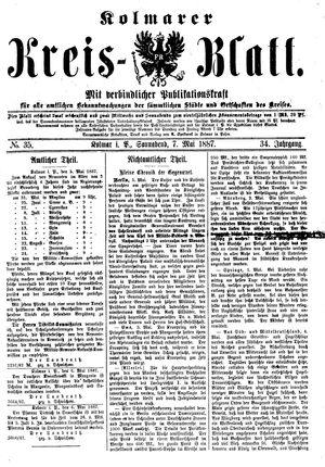 Kolmarer Kreisblatt vom 07.05.1887