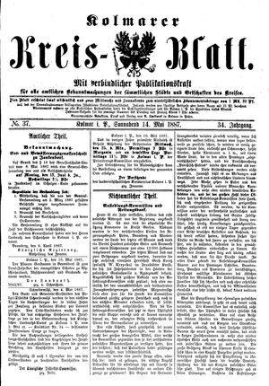 Kolmarer Kreisblatt vom 14.05.1887