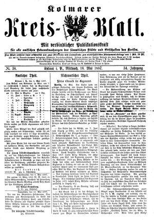 Kolmarer Kreisblatt vom 18.05.1887