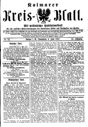 Kolmarer Kreisblatt vom 04.06.1887