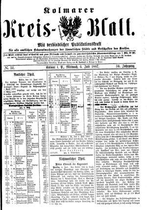 Kolmarer Kreisblatt vom 06.07.1887